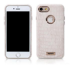 REMAX Maso Series Crocodile Leather Coated Hard Case for iPhone 8/7 - White