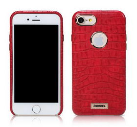 REMAX Maso Series Crocodile Leather Coated Hard Case for iPhone 8/7 - Red