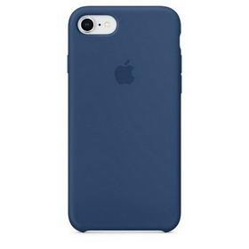 Apple Silicone Case for iPhone 7/8 - Blue Cobalt (Hi-Copy)