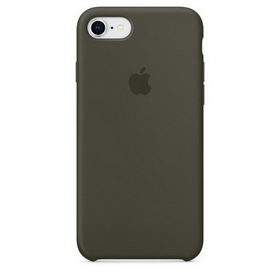 Apple Silicone Case for iPhone 7/8 - Dark Olive (Hi-Copy)