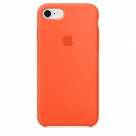 Apple Silicone Case for iPhone 7 - Orange (Hi-Copy)