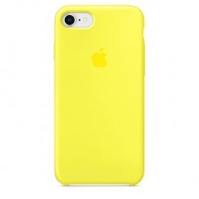 Apple Silicone Case for iPhone 7/8 - Yellow (Hi-Copy)
