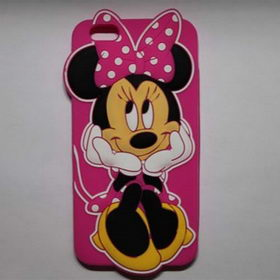 Чехол 3D Cute Minnie Mouse Soft Silicone Rubber Back для iPhone 8/7