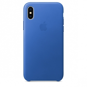 Apple iPhone X Leather Case - Blue