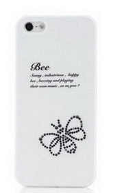 Чехол Star5 Insect Story Bee White для iPhone 5S/5 (with Swarovski)
