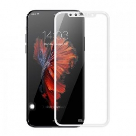 Baseus Tempered Glass Silk Screen 3D Arc Protective Film 0.3mm White (SGAPIPH8-A3D02) for iPhone X