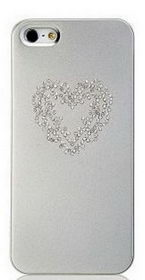 Star5 Pure Love Series Heart Silver for iPhone 5/5s (with Swarovski)