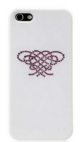 Star5 Pure Love Series Hearts Knot White for iPhone 5/5s (with Swarovski)