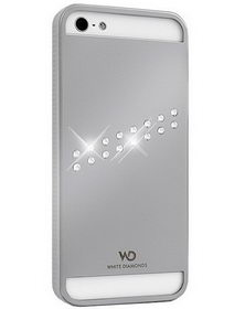 White Diamonds Materialized Metal Stream Silver for iPhone 5