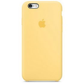 Apple Silicone Case для iPhone 5/5S/SE Yellow (Hi-Copy)
