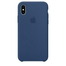 Apple Silicone Case for iPhone X - Blue Cobalt (Hi-Copy)