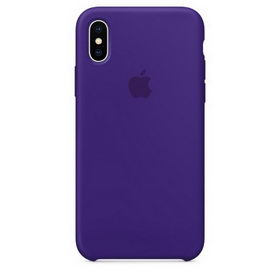 Apple Silicone Case for iPhone X - Ultra Violet (Hi-Copy)