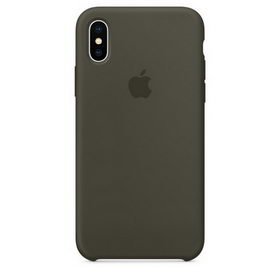 Apple Silicone Case for iPhone X - Dark Olive (Hi-Copy)