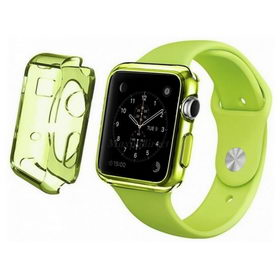 Apple Watch 42mm TPU Case - Clear Green