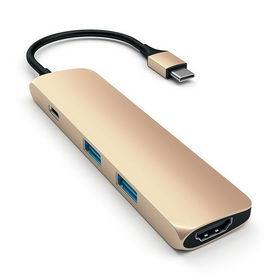 Satechi Aluminum Type-C Slim Multi-Port Adapter 4K Gold (ST-CMAG)