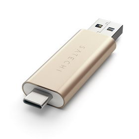 Satechi Aluminum Type-C USB 3.0 and Micro/SD Card Reader Gold (ST-TCCRAG)