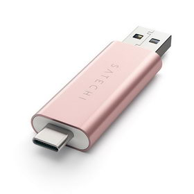 Satechi Aluminum Type-C USB 3.0 and Micro/SD Card Reader Rose Gold (ST-TCCRAR)