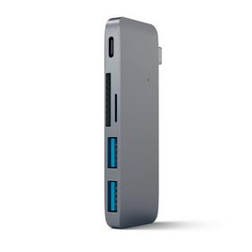 Satechi Type-C USB 3.0 Passthrough Hub Space Gray (ST-TCUPM)